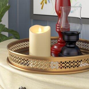 Faux pillar candle chandelier wayfair flameless pillar candle aloadofball Image collections