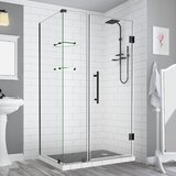 Bromley GS Frameless 43.25 x 72 Rectangle Hinged Shower Enclosure with Glass Shelves by Aston
