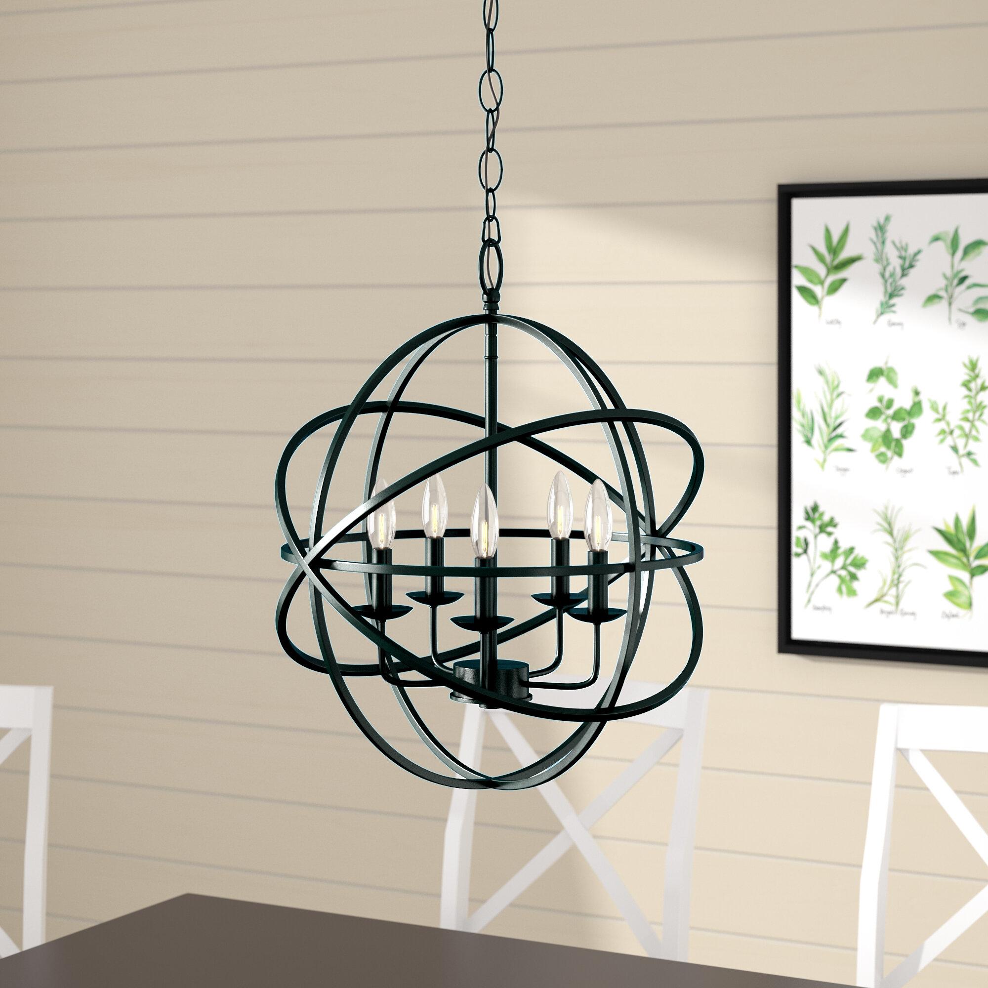 Laurel Foundry Modern Farmhouse Hankinson 5 Light Pendant U0026 Reviews |  Wayfair