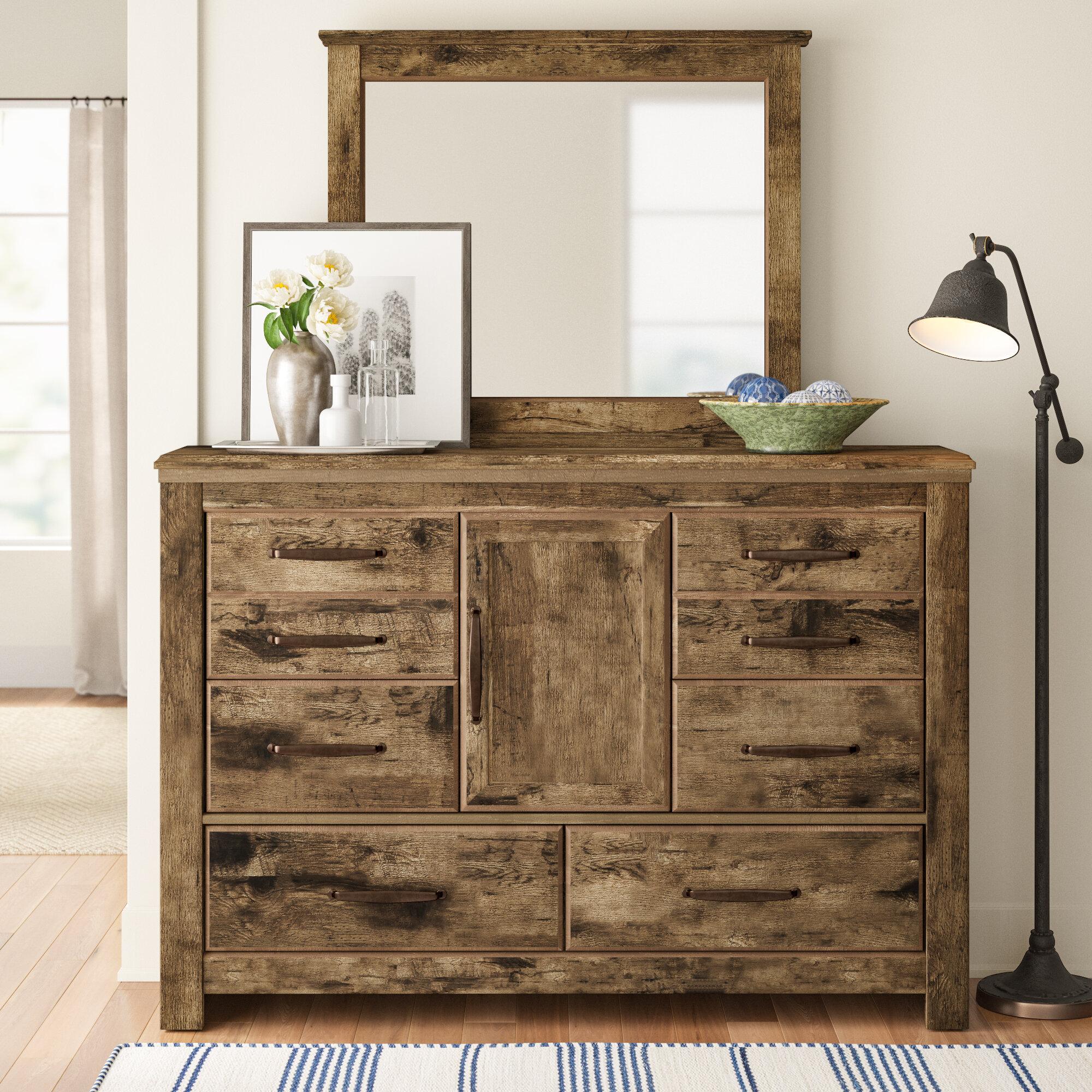 Three Posts Kinnear 6 Drawer Combo Dresser Reviews Wayfair