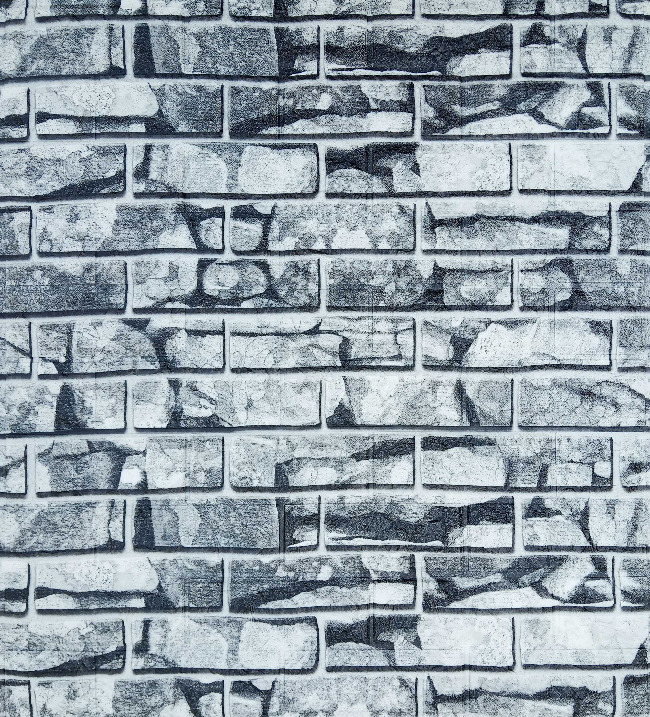 Dundee Deco White Grey Faux Stone 3d Wall Panel Peel And Stick Wall Sticker Self Adhesive Foam Wallpaper For Interior Design Wall Paneling Decor 2 3ft X 2 5ft 5 75 Sq Ft Each 5 Pack