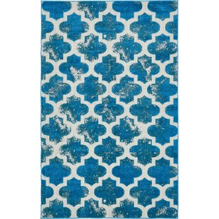 Find for Sarno Turquoise Indoor/Outdoor Area Rug ByWrought Studio