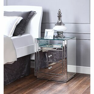 Albee Wooden 2 Drawer Nightstand by Everly Quinn