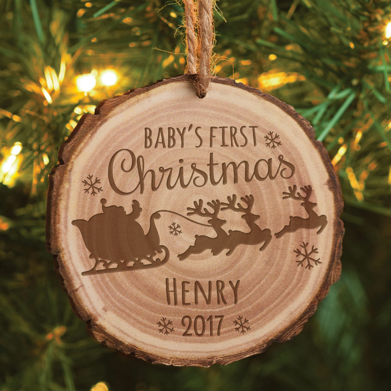 the holiday aisle babys first christmas personalized shaped ornament wayfair