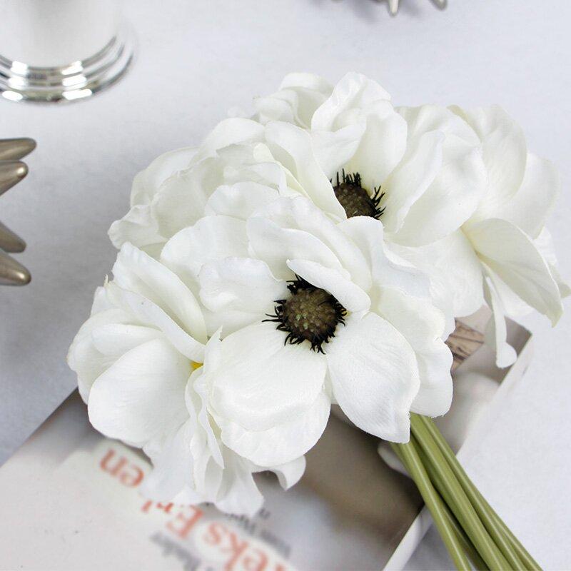 House of hampton silk anemone floral arrangement wayfair silk anemone floral arrangement mightylinksfo