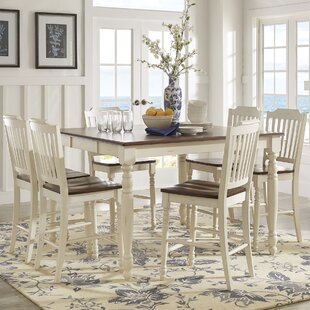 Itchington 7 Piece Solid Wood Dining Set