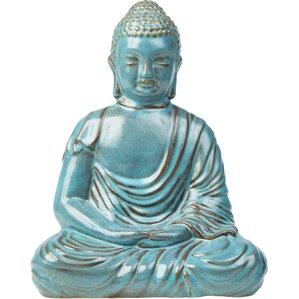 glazed ceramic large peaceful buddha statue
