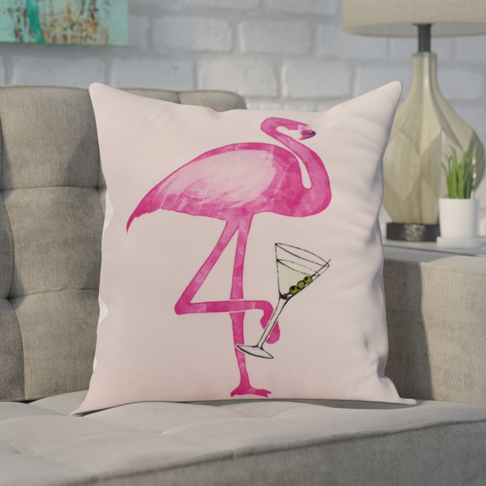 Wrought Studio Hardwick Single Flamingo Outdoor Square Pillow Cover Insert Reviews Wayfair