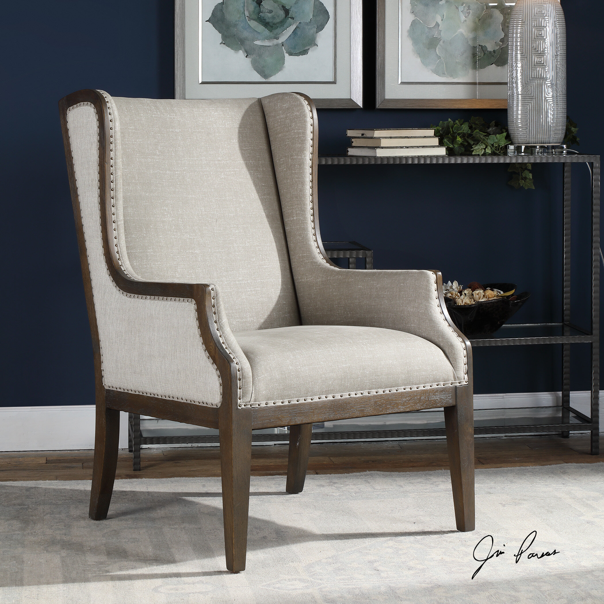 Prime Ormond Wingback Chair Gmtry Best Dining Table And Chair Ideas Images Gmtryco