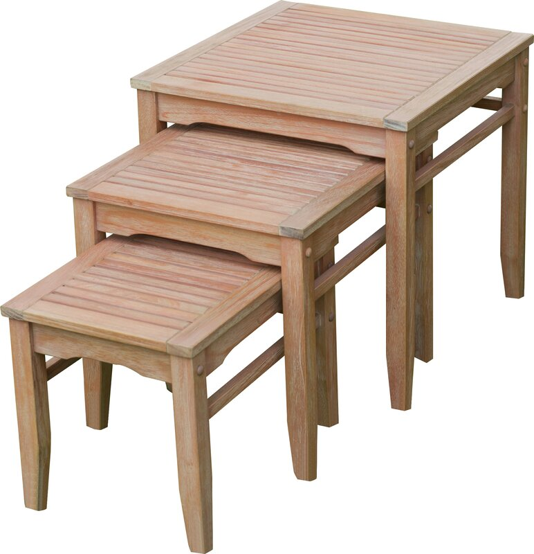 Nesting Tables cambridge casual willow 3 piece nesting tables & reviews | wayfair