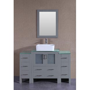 Amanda 54 Single Bathroom Vanity Set with Mirror by Bosconi