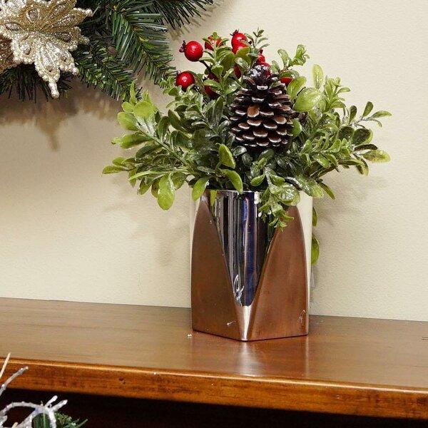 Christmas Flower Arrangements Artificial.Artificial Decorative Christmas Floral Arrangement In Pot