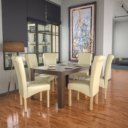 Sherlene Dining Set with 4 Chairs Ebern Designs Colour