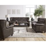 Lejeune 3 Piece Leather Living Room Set by Canora Grey