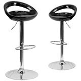 Minnesota Adjustable Height Swivel Bar Stool (Set of 2) by Orren Ellis