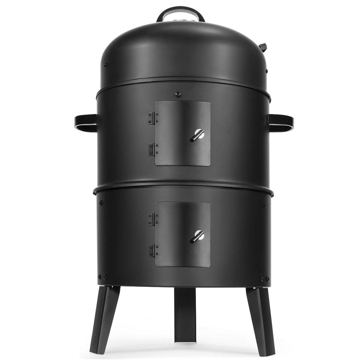 Barton Wood Charcoal Smoker And Grill Wayfair