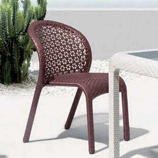 South Stacking Patio Dining Chair With Cushion by 100 Essentials Best