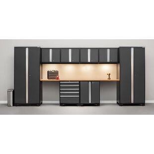 Pro 3.0 Series 10 Piece Garage Storage Cabinet Set with Worktop by NewAge Products