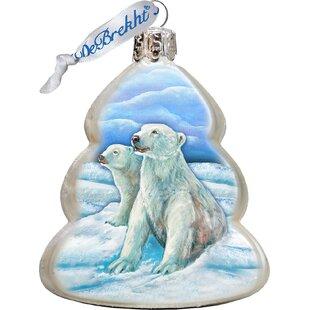 Polar Bears Shaped Ornament by The Holiday Aisle