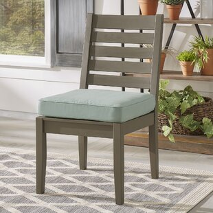 Brook Hollow Patio Dining Chair with Cushion (Set of 2)