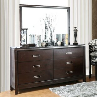 Ishani 6 Drawer Double Dresser With Mirror by Wrought Studio Cool