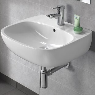 Compare prices Moda Vitreous China 22 Wall Mount Bathroom Sink with Overflow By Bissonnet