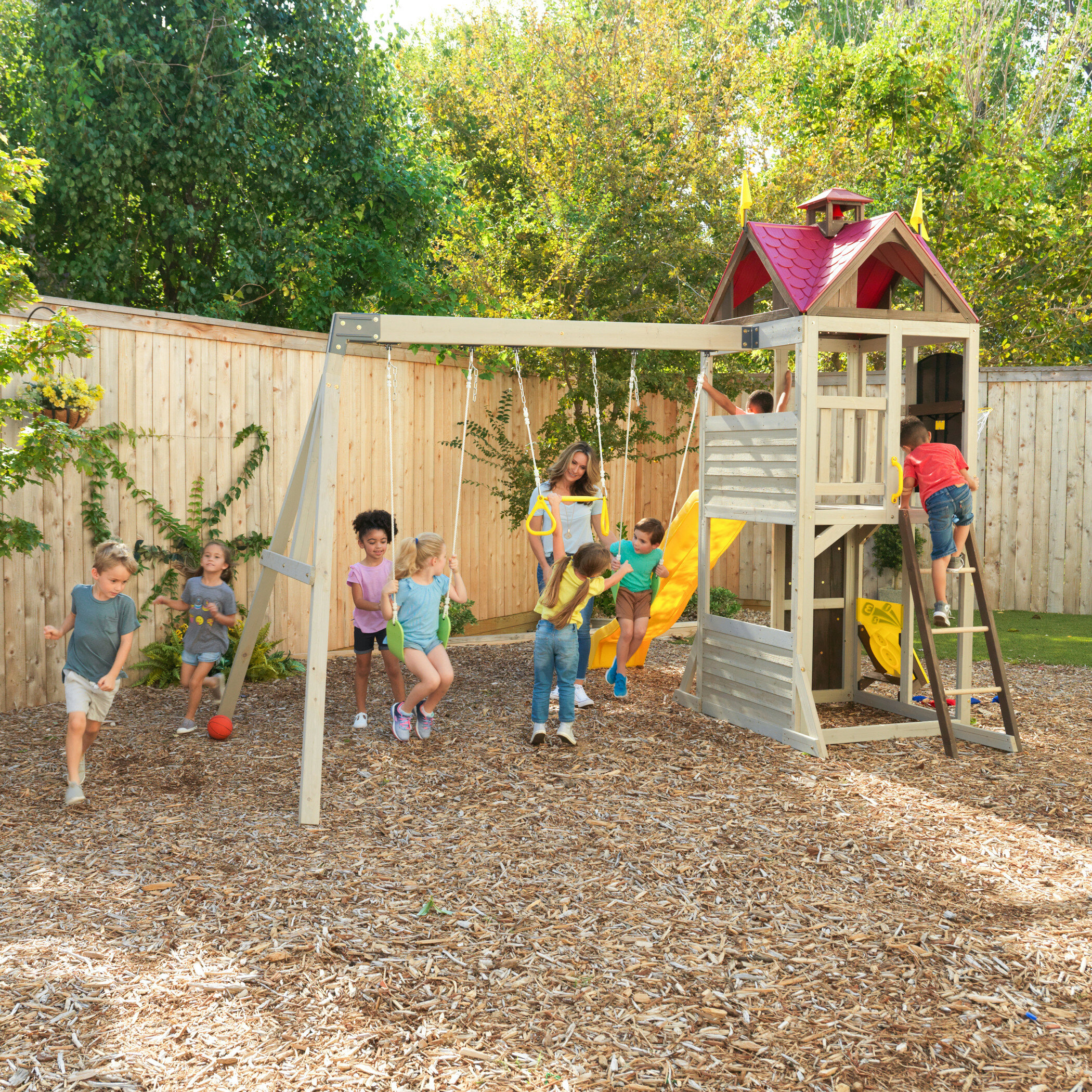 Summerhill Wooden Swing Set