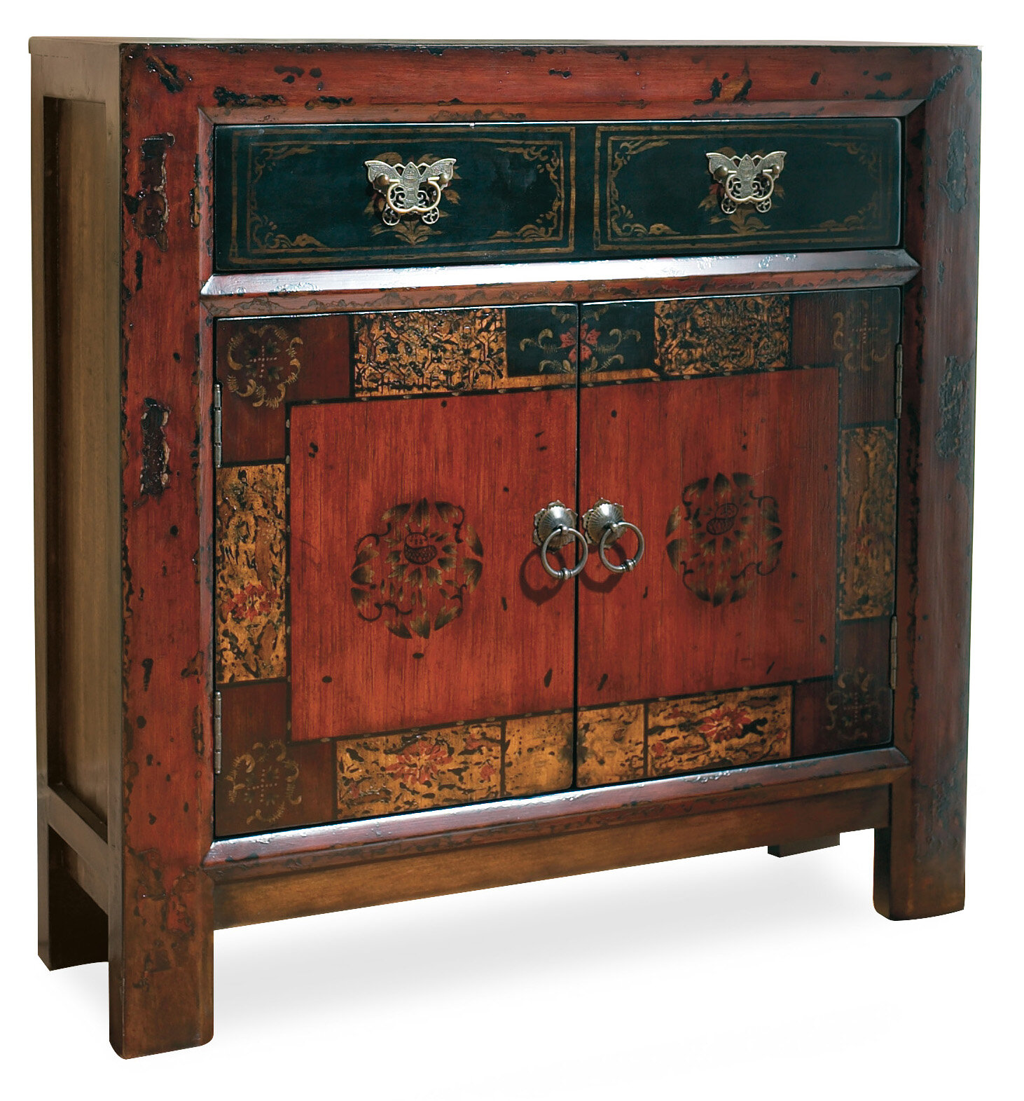 Hooker Furniture Asian 2 Door1 Drawer Hall Accent Cabinet &