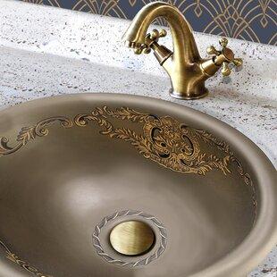 Regatta Oval Drop-In Bathroom Sink with Overflow