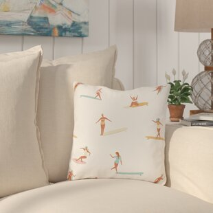Pickering Surf Babes Outdoor Throw Pillow
