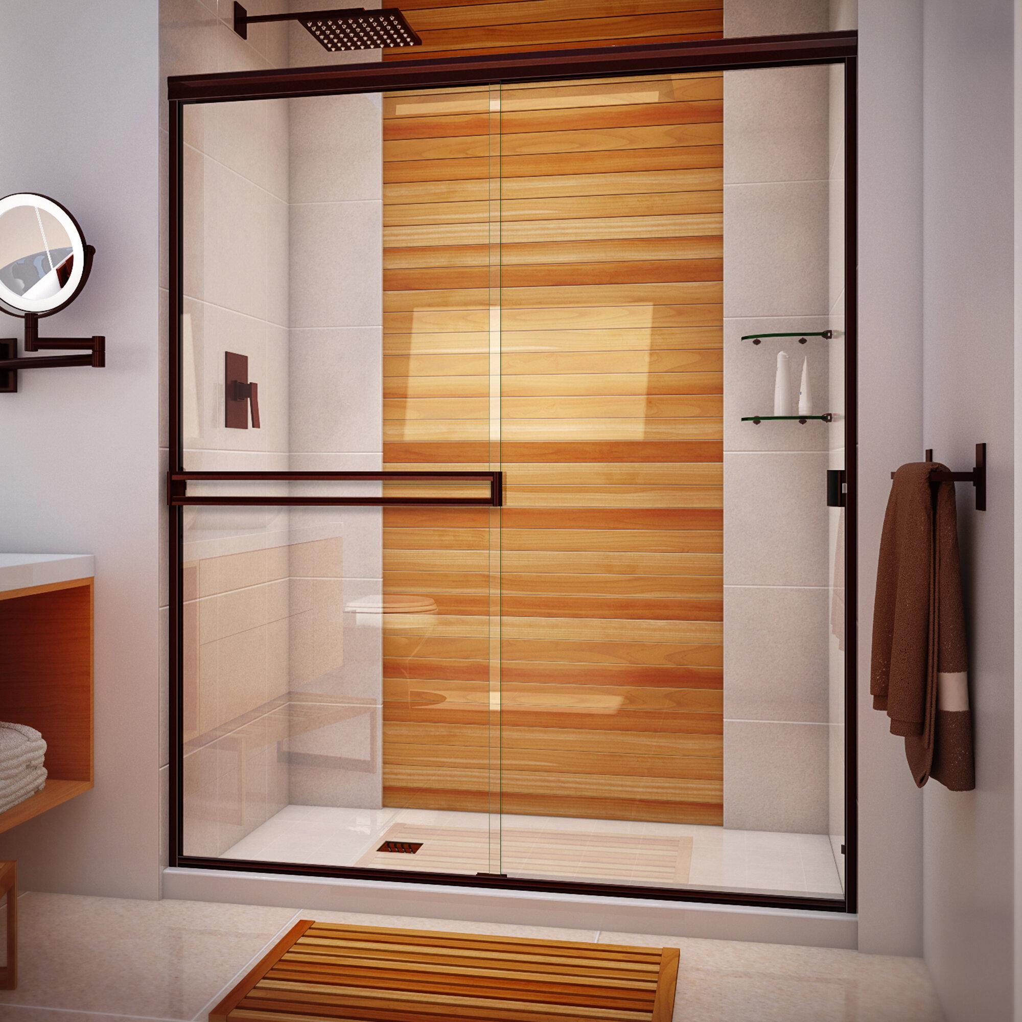 Arizona Shower Door 58 X 65 Bypass Semi Frameless Shower Door Wayfair