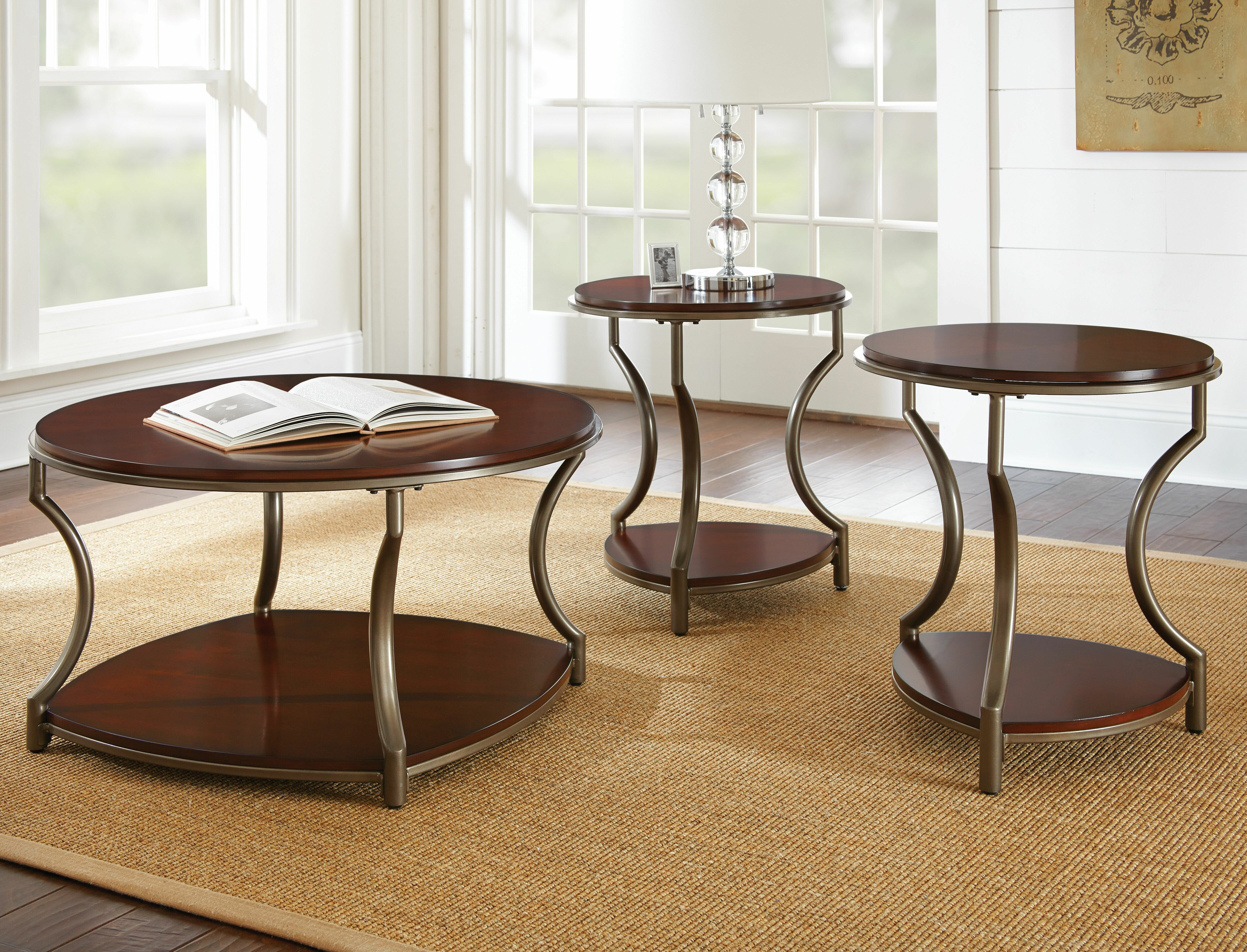 Red Barrel Studio Marny 3 Piece Coffee Table Set Reviews Wayfair
