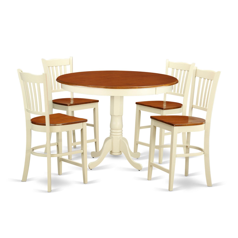 East West Trenton 5 Piece Counter Height Pub Table Set | Wayfair