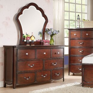 Top Reviews Scalf 8 Drawer Double Dresser with Mirror by Harriet Bee Reviews (2019) & Buyer's Guide