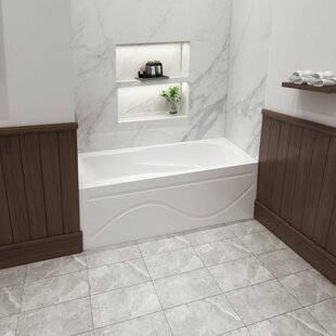 Deals Acrylic 60 x 32 Alcove/Tile in Soaking Bathtub ByKingston Brass