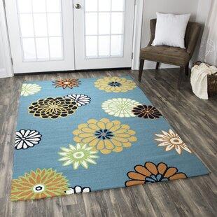 Evangeline Hand-Tufted Green Indoor/Outdoor Area Rug byEbern Designs