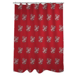 Starry Eyed Snowflakes Single Shower Curtain