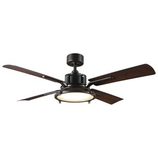 56 Nautilus 4 Blade Outdoor LED Ceiling Fan with Remote by Modern Forms