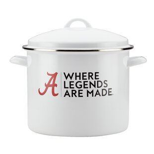 12 qt. Alabama Enamel on Steel Stock Pot with Lid by CollegeKitchenCollection