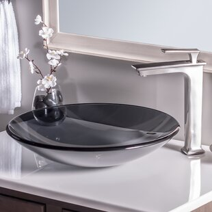 Read Reviews Low Profile Glass Circular Vessel Bathroom Sink By Novatto