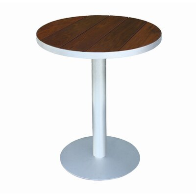 """Luma Solid Wood Bistro Table Modern Outdoor Table Size: 24"""", Top Finish: Ipe"""