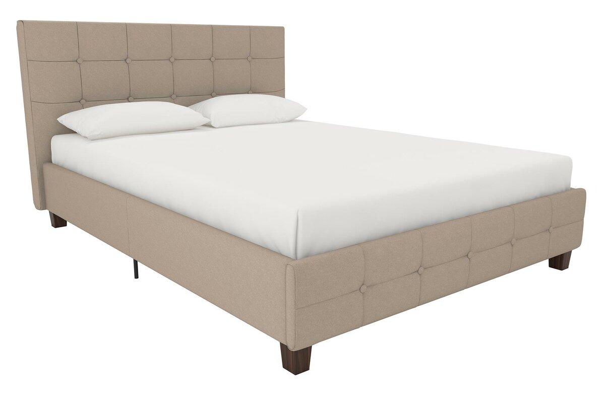 andover mills amherst upholstered platform bed  reviews  wayfair - defaultname