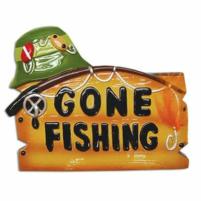 Personalized By Santa Gone Fishing Hobbies And Activities Hanging Figurine Wayfair