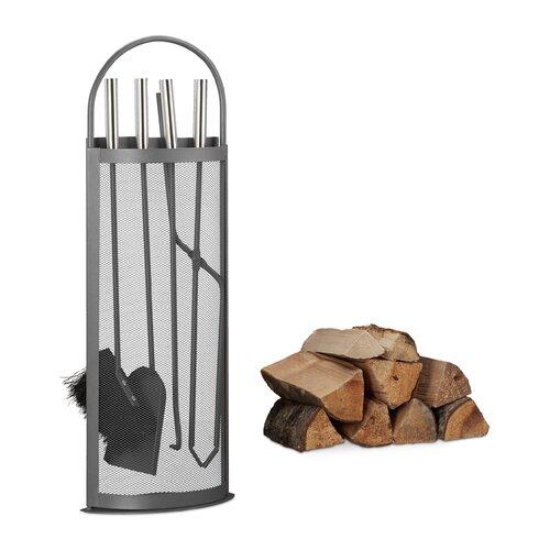 5-tlg. Kaminbesteck Halliburton aus Stahl ModernMoments | Wohnzimmer > Kamine & Öfen > Kaminbestecke | ModernMoments
