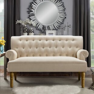 Bjorn 59 Rolled Arm Settee by Andover Mills
