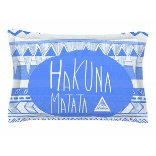 Vasare Nar 'Hakuna Matata Azure Blue' Illustration Sham