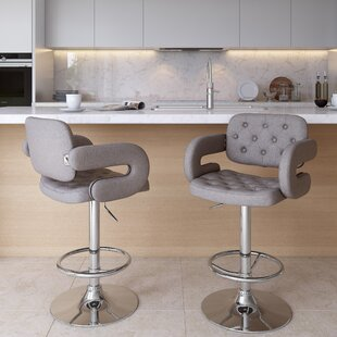 Quimir Adjustable Height Swivel Bar Stool by Brayden Studio
