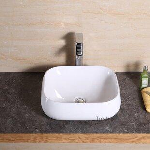 Looking for Vanity Art Basin Ceramic Rectangular Vessel Bathroom Sink ByLuxier