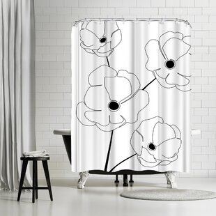 Explicit Design Bloomed Flower Single Shower Curtain