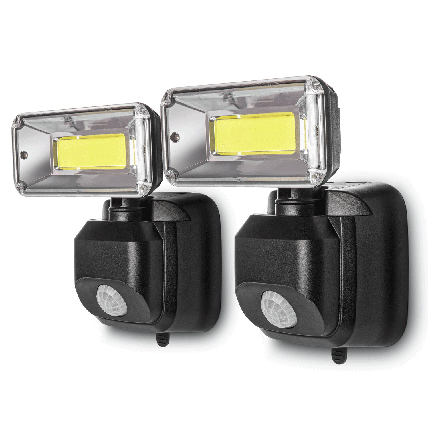 Home Zone Security 36 Watt Led Dusk To Dawn Battery Powered Outdoor Security Area Light With Motion Sensor Lights Pack Of 2 Reviews Wayfair